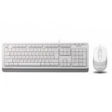 Комплект (клавиатура, мышь) A4Tech F1010 White USB