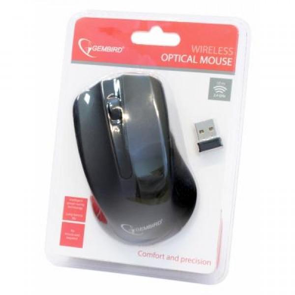 Мышь беспроводная Gembird MUSW-101 черная USB