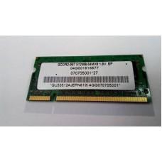 Пам'ять Elpida Gddr2-667 512mb 64mx8 1.8v ep ,для ноутбука, б/у