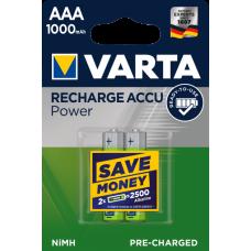 АккумуляторVarta Rechargeable Accu AAA /1000 мАг Ni-MH 2шт