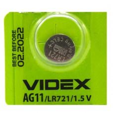 Батарейка для часов VIDEX AG 11(LR721) (1шт.)