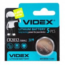 Батарейка VIDEX CR2032 5004LC 3V Silver (1 шт)