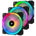 Вентилятор Corsair LL120 RGB 3 Fan Pack (CO-9050072-WW), 120x120x25мм, 4-pin, черный - CO-9050072-WW
