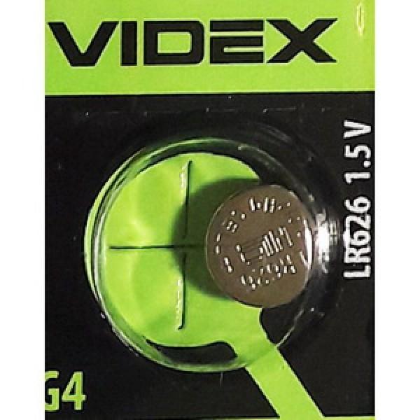 Батарейка для часов VIDEX AG4 LR626 Alkaline (поштучно)