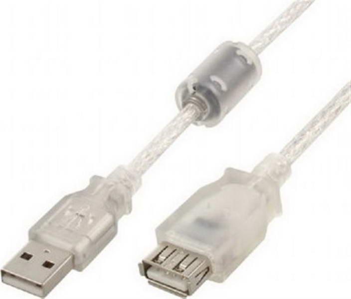 Кабель Cablexpert (CCF-USB2-AMAF-TR-0.75M) USB2.0 A - USB A, 0.75м, ферритовый фильтр
