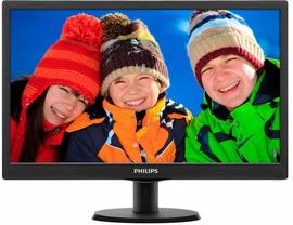 "Philips 18.5"" 193V5LSB2/62 Black - 193V5LSB2/62"