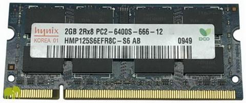SO-DIMM 2GB/800 DDR2 PC2-6400 Hynix (HMP125S6EFR8C-S6) Refurbished