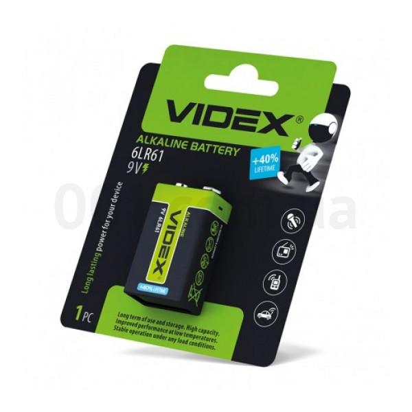 Батарейка щелочная VIDEX 6LR61/9V (Крона)