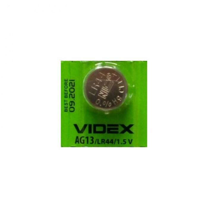 Батарейка для часов VIDEX AG13 LR44 Alkaline (поштучно)