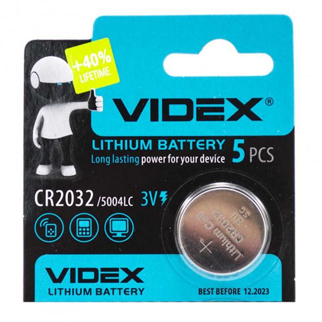 Батарейка VIDEX CR2032 5004LC 3V Silver